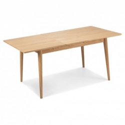 Scandi oak extending dining table